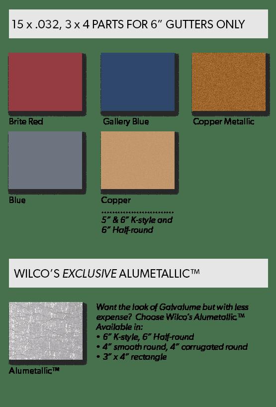 Painted Aluminum Gutter Premium Color Choices